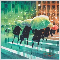 Windy Crossing by Peter J Rodgers -  sized 12x12 inches. Available from Whitewall Galleries